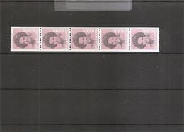 Pays-Bas ( 1170a En Bande De 5 Numérotée XXX -MNH) - Postzegelboekjes En Roltandingzegels