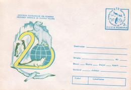 ROMANIA 1988: POLAR FAUNA, POLAR ASPECTS, Unused Prepaid Cover 064/2004 - Registered Shipping! - Entiers Postaux