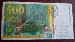FRANCE - Billet De 500F Pierre Et Marie Curie De 1994 - Sans épinglage - 500 F 1994-2000 ''Pierre Et Marie Curie''