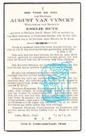 DP August Van Vynckt ° Meigem 1851 † Petegem Ad Leie Deinze 1937 X Emelie Huys - Images Religieuses