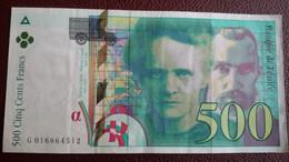 FRANCE - Billet De 500F Pierre Et Marie Curie De 1994 - Avec épinglage - 500 F 1994-2000 ''Pierre Et Marie Curie''