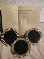 3 ANCIENS DISQUES SROBOSCOPIQUES NEUFS - REGLAGE DE LA VITESSE POUR PHONO ET TOURNE DISQUE - 78 Tr 45 Tr 33 Tr - NOTICE - 78 G - Dischi Per Fonografi