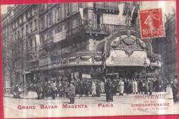 Dépt 75 - PARIS (10è) - GRAND BAZAR MAGENTA - Souvenir De Son CINQUANTENAIRE 25 Mars 1861 - 25 Mars 1911 - District 10