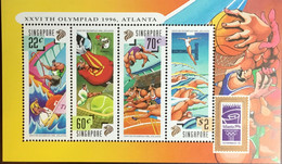 Singapore 1996 Olympic Games Minisheet MNH - Singapore (1959-...)