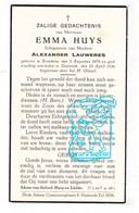 DP Emma Huys ° Bredene 1874 † Oostende 1936 X Alexander Lauweres - Images Religieuses