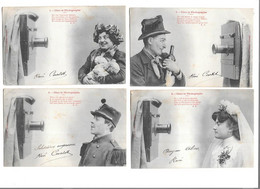 12244 - Série De 5 CPA BERGERET :  Chez Le Photographe, Appareil Photo, - Bergeret