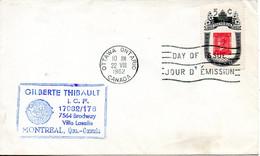 CANADA. N°326 De 1962 Sur Enveloppe 1er Jour Ayant Circulé. Armoiries De Victoria. - Sobres