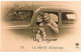 72 UN BONJOUR  DE   LA FERTE  BERNARD   CPM  TBE   51 - La Ferte Bernard