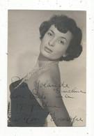 JC , Photographie , Célébrité , Juliette Figueras , Miss France, élue Miss Europe En 1949 ,dédicacée , 2 Scans - Beroemde Personen