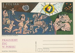 Poland Postcard Cp 713: Pablo Picasso Peace Horse Pegasus - Enteros Postales