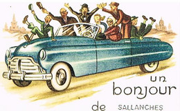 74 UN BONJOUR  DE   SALLANCHES   CPM  TBE   55 - Sallanches