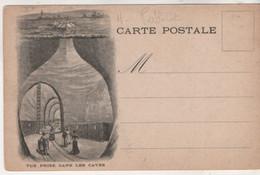 Cpa.Publicité.Maison Léon Chandon Champagne.Reims.Arc De Triomphe.vue Prise Dans Les Caves - Pubblicitari