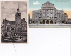 DC1024- Ak Chemnitz Sachsen 2 Karten Lot Neues Rathaus Neues Theater - Chemnitz