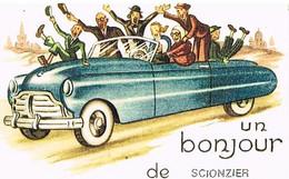 74 UN BONJOUR  DE   SCIONZIER   CPM  TBE   58 - Scionzier