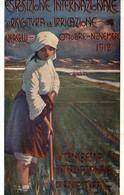 CPA - VERCELLI 1912 - Esposizione Di Risolcultura - Mestieri, Mondine - Commemorativa, Commémoration - VG - PU716 - Pubblicitari
