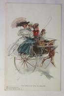 Künstlerkarte, The American Girl In Ireland,   1911, Chas. H. Hauff.  ♥  (2820) - 1900-1949