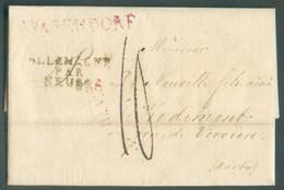 LAXC De WARENDORF Le 18 Mai 1812 + Griffe ALLEMAGNE PAR NEUSS Vers Hodimont, Par Verviers. Taxée '10' '.TB - 18318 - Vorphilatelie
