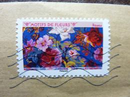 2021  Motif De Fleurs  Roses Timbre Adhésif  Oblitéré Sur Lettre - Autoadesivi