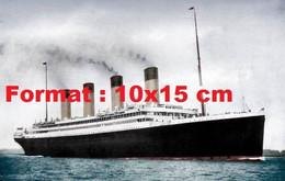 """Reproduction D'une Photographie Ancienne Du Paquebot White Star Line """"Olympic"""" En 1912 - Riproduzioni"""