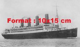 """Reproduction D'une Photographie Ancienne Du Paquebot """"Aquitania"""" En Mer En 1930 - Riproduzioni"""