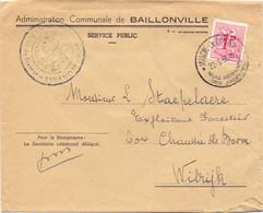 Omslag Enveloppe - Commune De Baillonville - Stempel Cachet Marche 1956 - Briefe