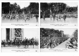 Paris 7 Cpa Défilé 14 Juillet 1919 Troupes Diverses  Arc Triomphe état Superbe - Arc De Triomphe