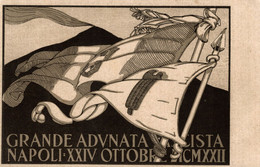 CPA - NAPOLI, 1922 - Grande Adunata Fascista - Commemorativa, Commémoration - NV - PU720 - Pubblicitari