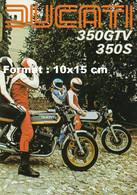 Reproduction D'une Photographie D'une Publicité Ancienne Ducati 350 GTV 350 S - Riproduzioni