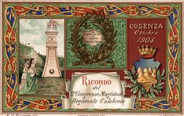 CPA - COSENZA, 1908 - Ricordo Del 2° Congresso Regionale Calabrese - Commemorativa, Commémoration - NV - PU721 - Pubblicitari