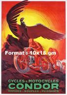Reproduction D'une Photographie D'une Publicité Ancienne Cycles Et Motocycles Condor - Riproduzioni