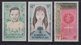 Laos 1962 Kampf Gegen Die Malaria Mi.-Nr. 121-123 A Postfrisch **  - Laos
