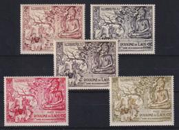 Laos 1956 2500. Geburtstag Von Buddha Mi.-Nr. 49-53 (49 Senkr. Bug) Postfr. **  - Laos