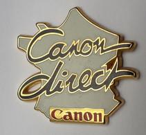 QQ217 Pin's Carte De France Informatique CANON Direct Signé Decat Achat Immédiat - Informatica