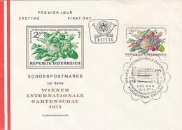PLANTS, VEGETABLES, VIENNA INTERNATIONAL HORTICULTURAL SHOW, COVER FDC, 1974, AUSTRIA - Gemüse