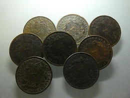 Portugal Lot 7 Coins V Reis 1867 And More One 1873  Bad Grade - Alla Rinfusa - Monete