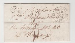 MAINE & LOIRE: CHOLLET, CàD Type 12 + TM 6 / LAC De 1832 Pour Bordeaux - 1801-1848: Precursores XIX