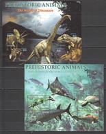XX529 LIBERIA FAUNA PREHISTORIC ANIMALS REPTILES WORLD OF THE DINOSAURS UNDER SEA 2KB MNH - Prehistorisch