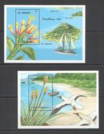 XX770 ST. VINCENT FLOWERS MARINE LIFE SHIPS BIRDS FLORA & FAUNA MEDICINAL PLANTS 2BL MNH - Heilpflanzen