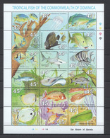 YY055 DOMINICA MARINE LIFE TROPICAL FISH #1292-1309 MICHEL 11 EURO BIG SH MNH - Maritiem Leven