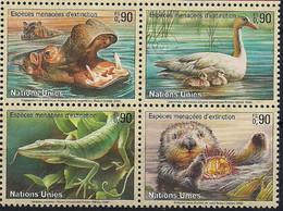 2000 UNO Genf  Mi. 385-8 **MNH   Gefährderte Arten - Gebraucht