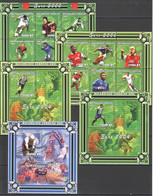 YY696 2001 MOCAMBIQUE MOZAMBIQUE FOOTBALL EURO 2004 OLYMPIC ATHENS 3BL+2KB MNH - Eurocopa (UEFA)