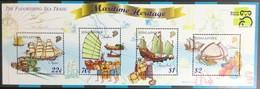 Singapore 1999 Australia '99 Merchant Ships Minisheet MNH - Singapur (1959-...)