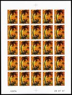 N°199 ** Coucher De Soleil En Feuille Complète De 25 Exemplaires Non Denetelés, SUP (certificat) Cote 325€ - Unused Stamps
