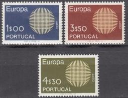 PORTUGAL 1092-1094, Postfrisch **, Europa CEPT 1970 - Unused Stamps