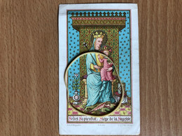 Sedes Sapientia Siège De La Sagesse Litho St Augustin Brugge Heiligenbild Image Pieuse - Images Religieuses