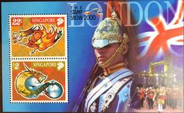 Singapore 2000 Year Of The Dragon Stamp Show Minisheet MNH - Singapur (1959-...)