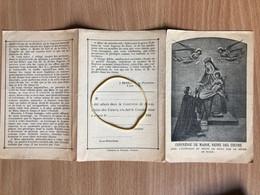 Image Pieuse Religieuse Confrérie De Marie Reine Des Cœurs Librairie Poitiers 1899  Voir Scan Au Verso - Images Religieuses
