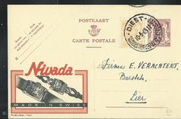 Publibel Obl. N° 760  ( Montres : NIVADA - Made In Swiss) Obl. DIEST  10/05/49 - Publibels