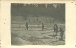 170621 - CARTE PHOTO Guerre 14 18 WW1 Skieurs En ALSACE 1915 1916 Chasseur Alpin Neige - Guerre 1914-18