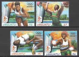 YY707 VANUATU SPORT OLYMPIC GAMES SYDNEY 2000 #1121-4 MICHEL 1SET MNH - Zomer 2000: Sydney